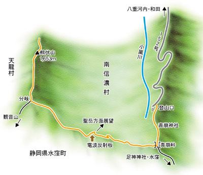 熊伏山登山マップ